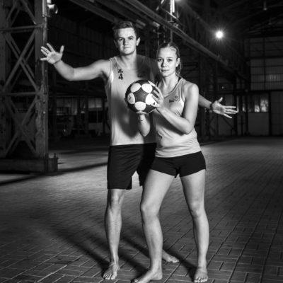 Nederland, Dordrecht, 24-01-2018 Dordtsport, Sportverkiezing 2017 Biesboshal Dordtyart team DeetosSnel Beachkorfbal Mats en Marit Foto: Ronald van den Heerik